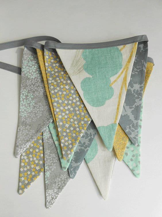 scrap fabric bunting