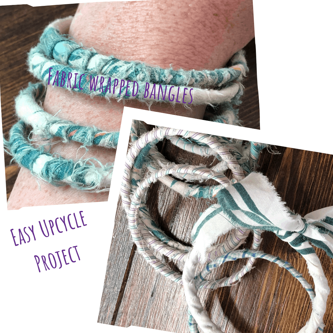 scrap fabric wrapped bangles