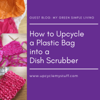 How to Upcycle Plastic Carrier Bags into a Dish Scrubber