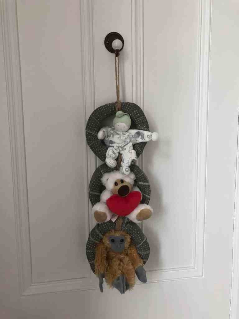 upcycled soft toy tidy