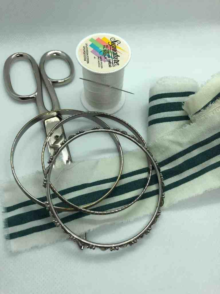 scrap fabric bangles materials