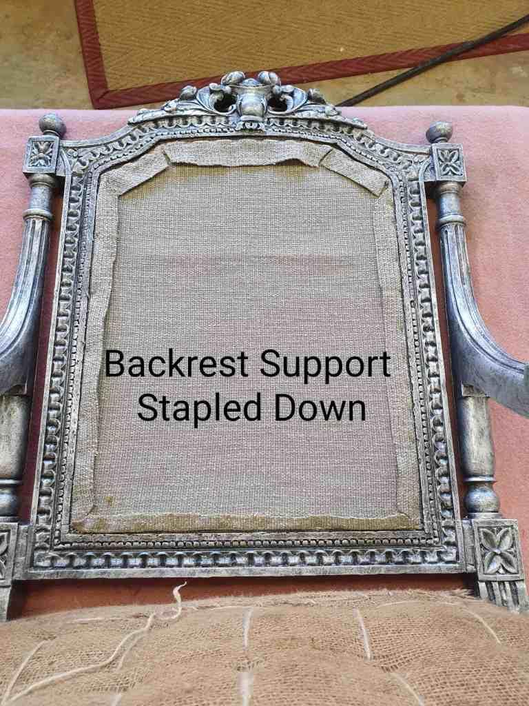 upholstery tutorial backrest