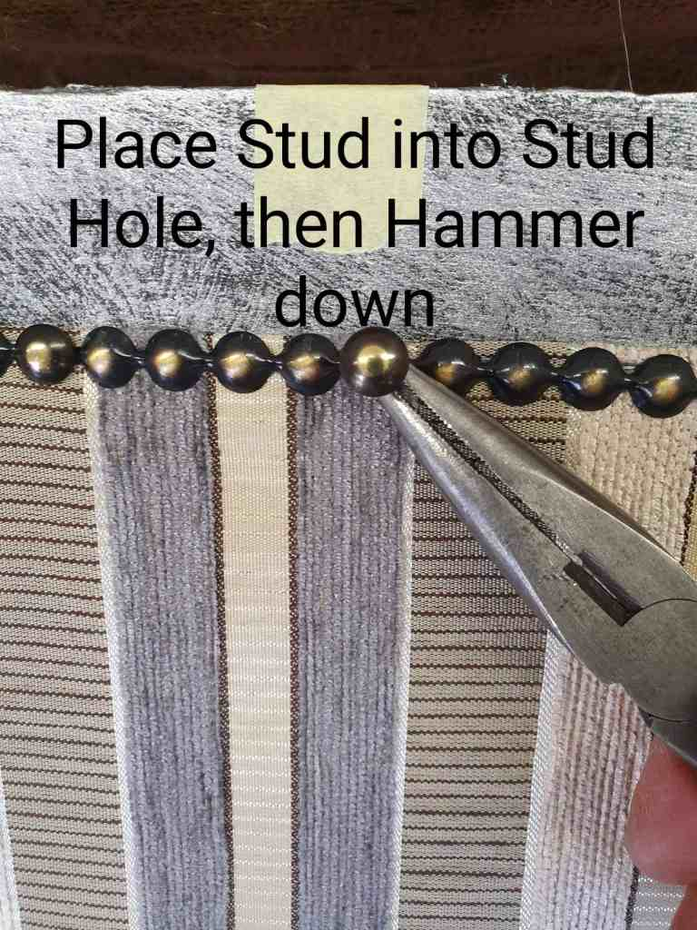 upholstery tutorial attaching studs