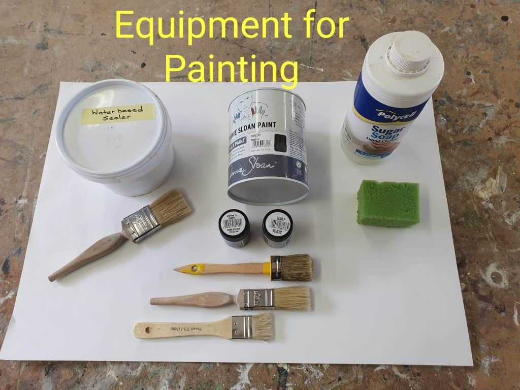 project materials French chair painting tutorial