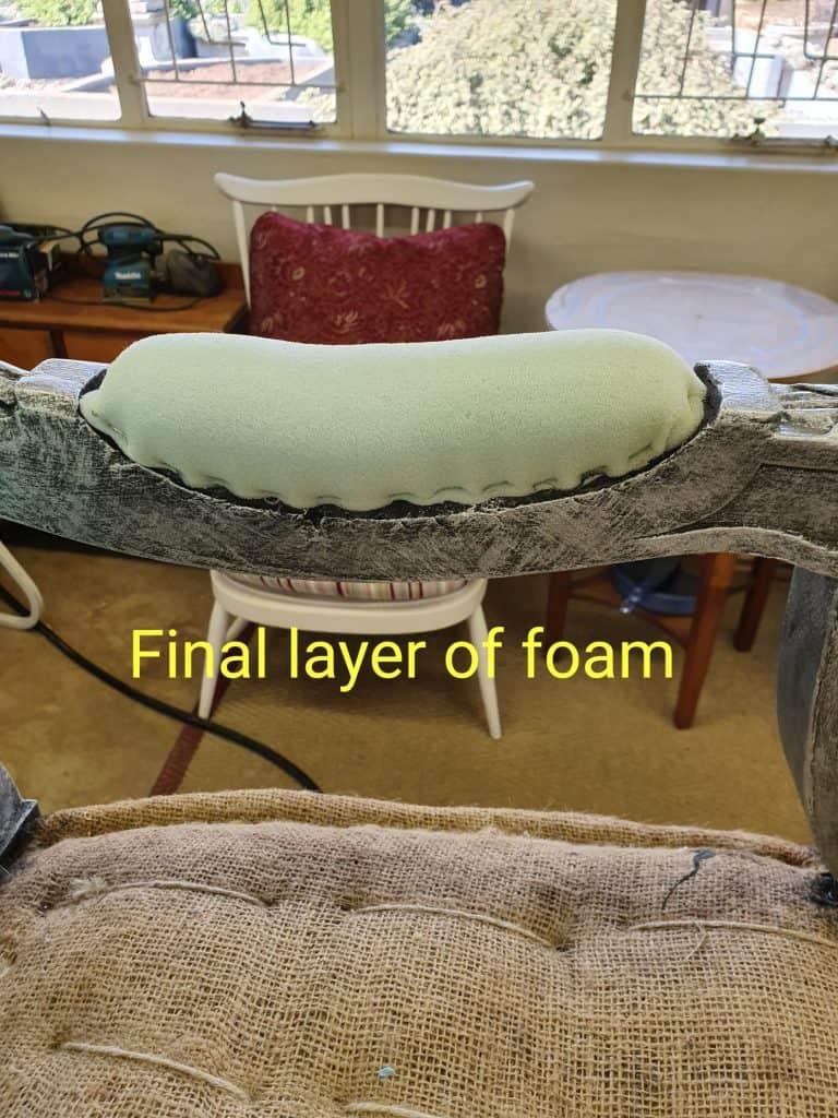 upholstery tutorial armrest