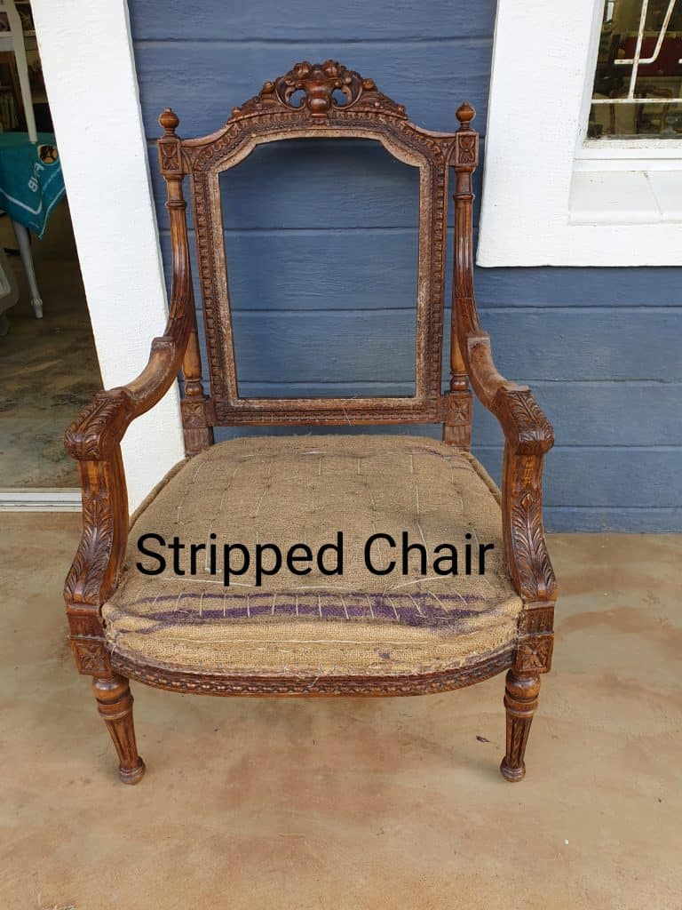 stripped French chair upholstery tutorial