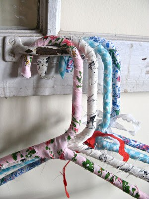 fabric wrapped clothes hangers