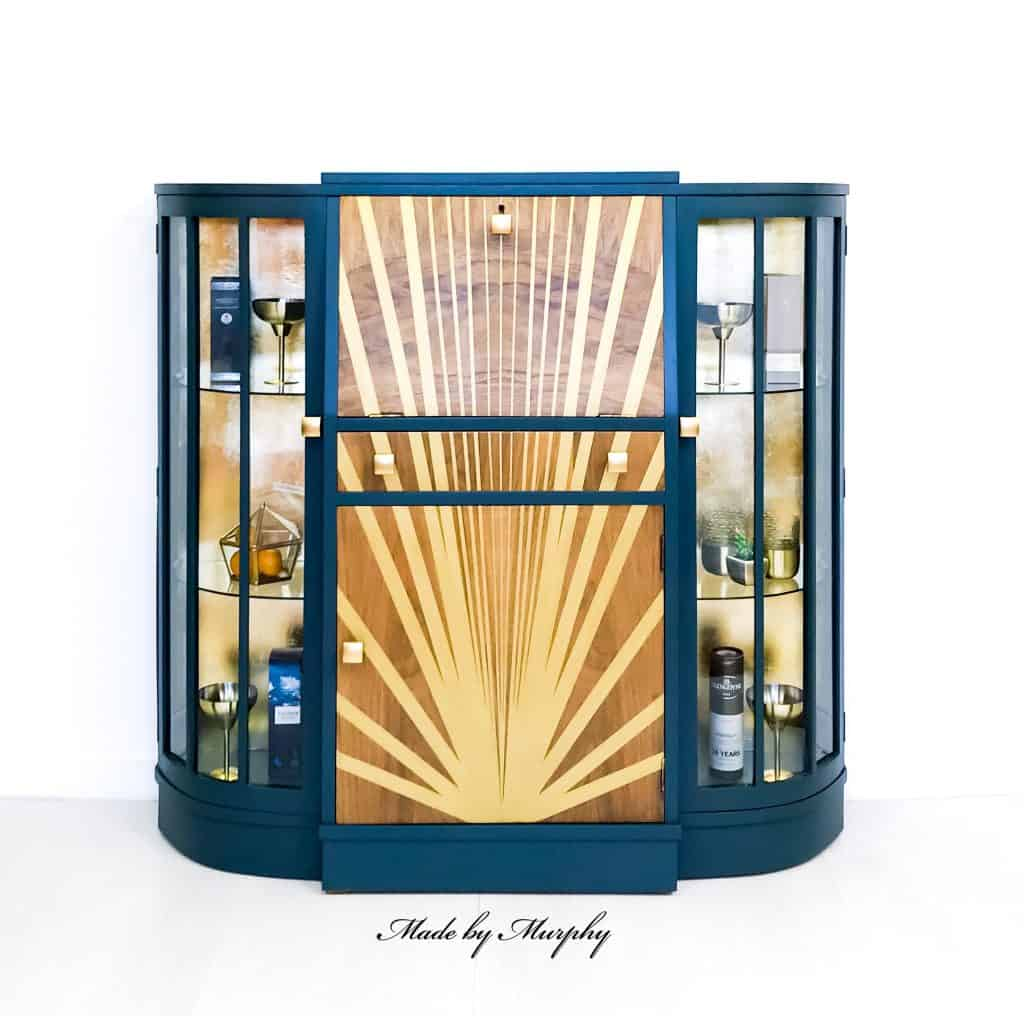 sunburst design drinks cabinet