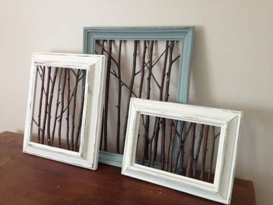 branches in frames as wall art