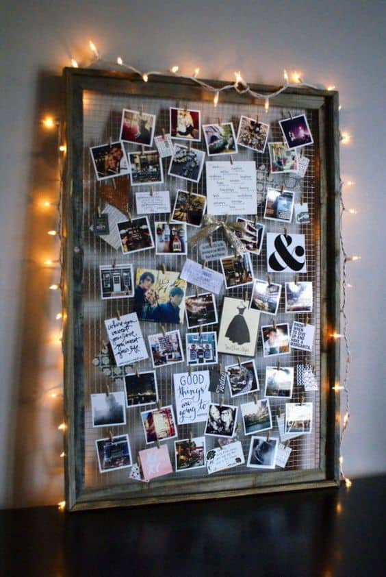 photo display board for blank walls