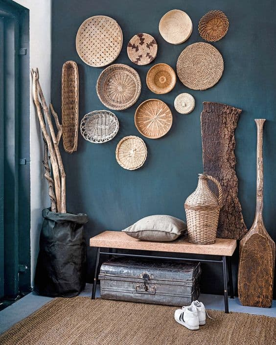 basket wall collection display