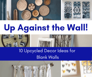 upcycled decor ideas for blank walls