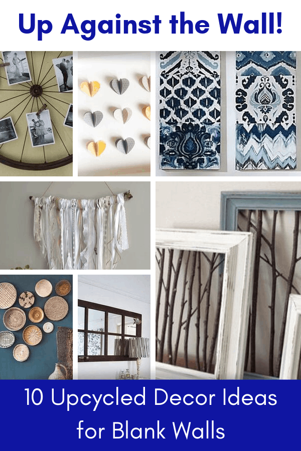 upcycled decor ideas to fill blank walls