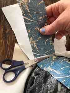 cutting decoupage paper