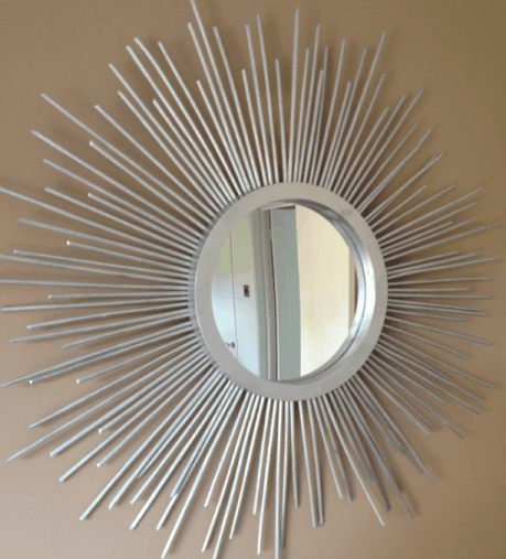 diy Art Deco style sunburst mirror