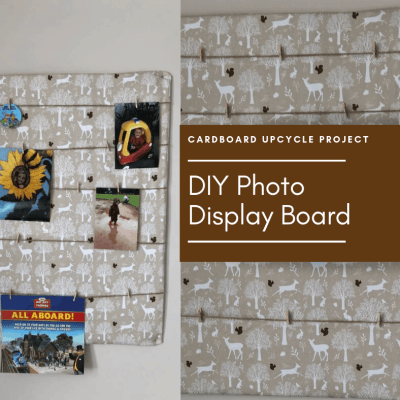 How to Upcycle Cardboard into a DIY Photo Display Board