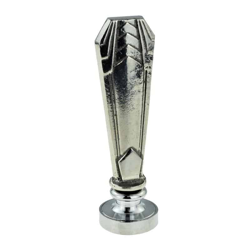 Art Deco drawer pull silver