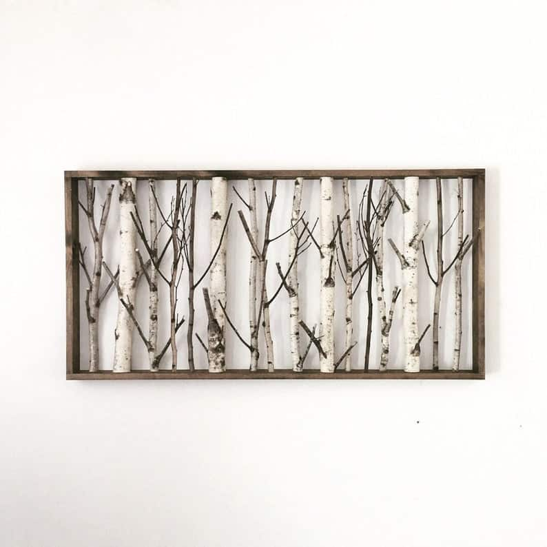 birch branch wall art