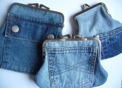 upcycled denim clutch purse from old jeans