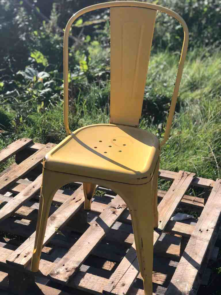how to upcycle an old garden chair
