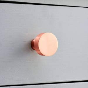 spray painted copper handles