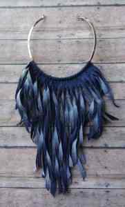 choker made from old jeans