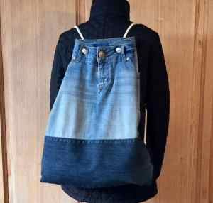 backpack made from old jeans