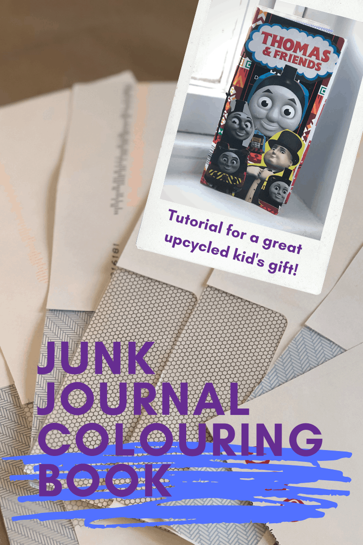 junk journal colouring book for kids