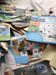 old kids magazines for upcycling