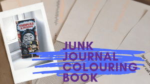 junk journal kids colouring book