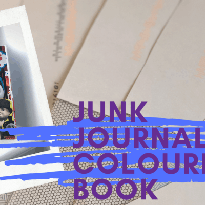 How to Upcycle Junk Mail – Junk Journal Colouring Book