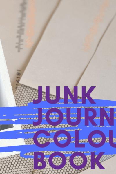 junk journal kids colouring book