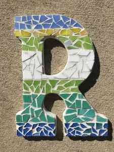 mosaic initial DIY personalised gift