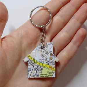 DIY personalised map keychain