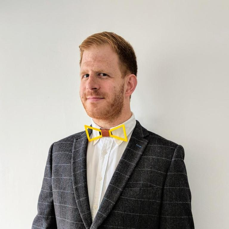 upcycled bow tie gift for him