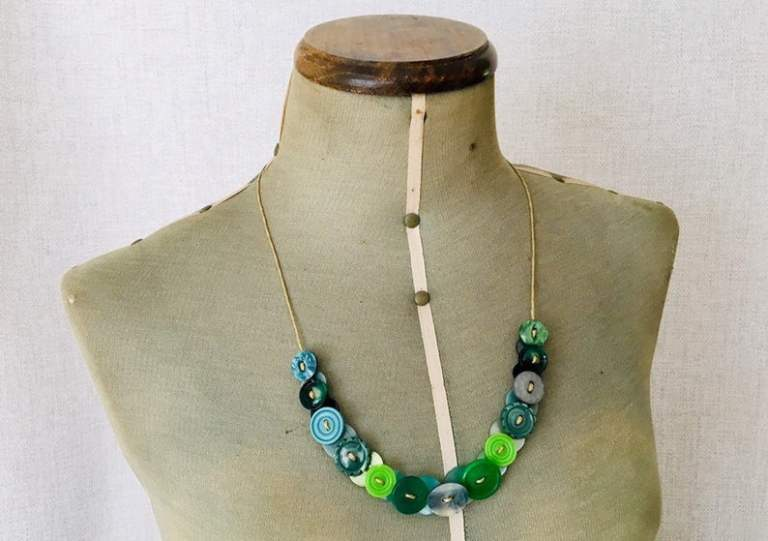 Upcycled Button Necklace on Etsy