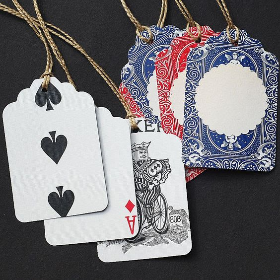 playing card gift tags