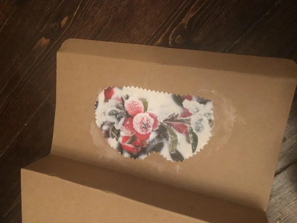 reused packaging as a gift box