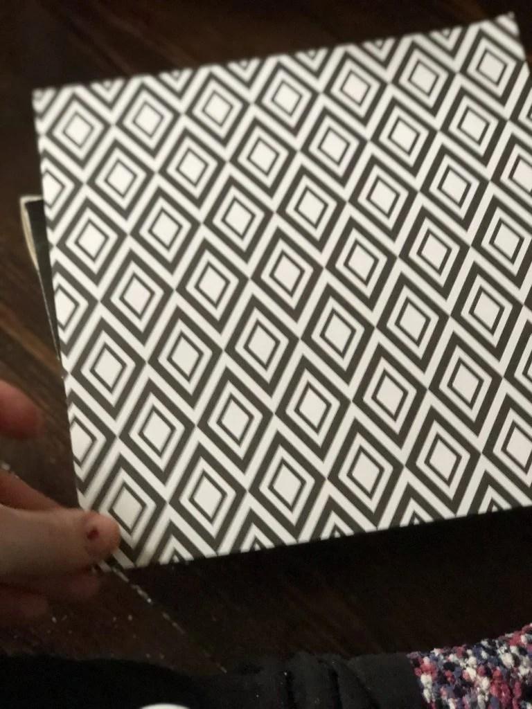black and white geometric craft paper