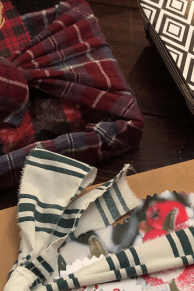 reuse packaging as gift wrap