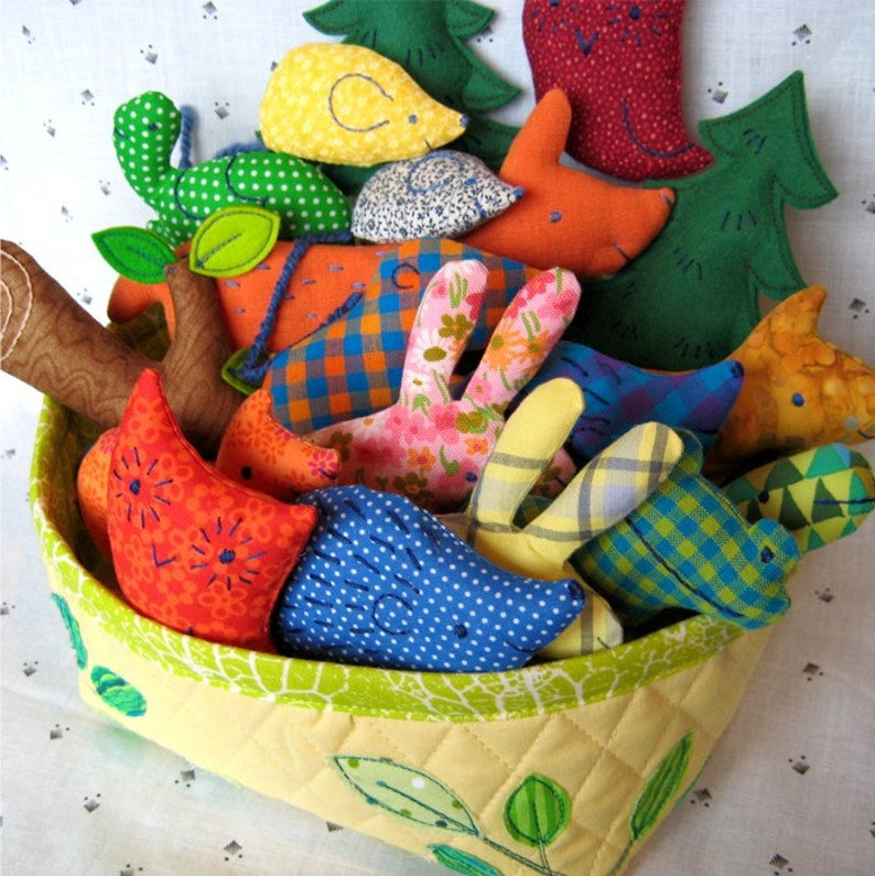 soft toy animals from fabric scraps
