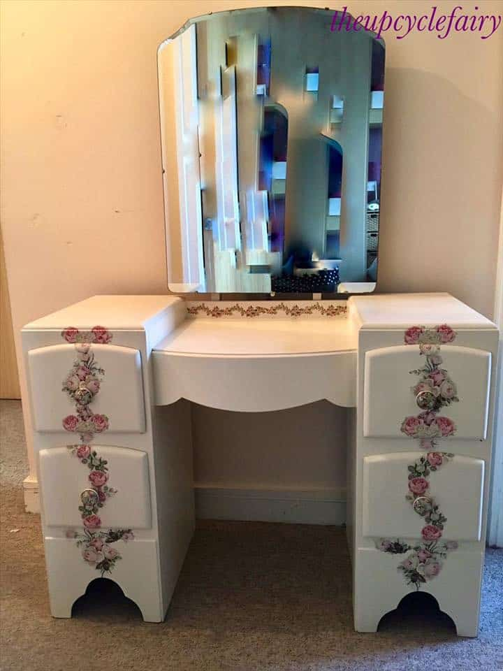 upcycled dressing table furniture painter the upcycle fairy dublin ireland