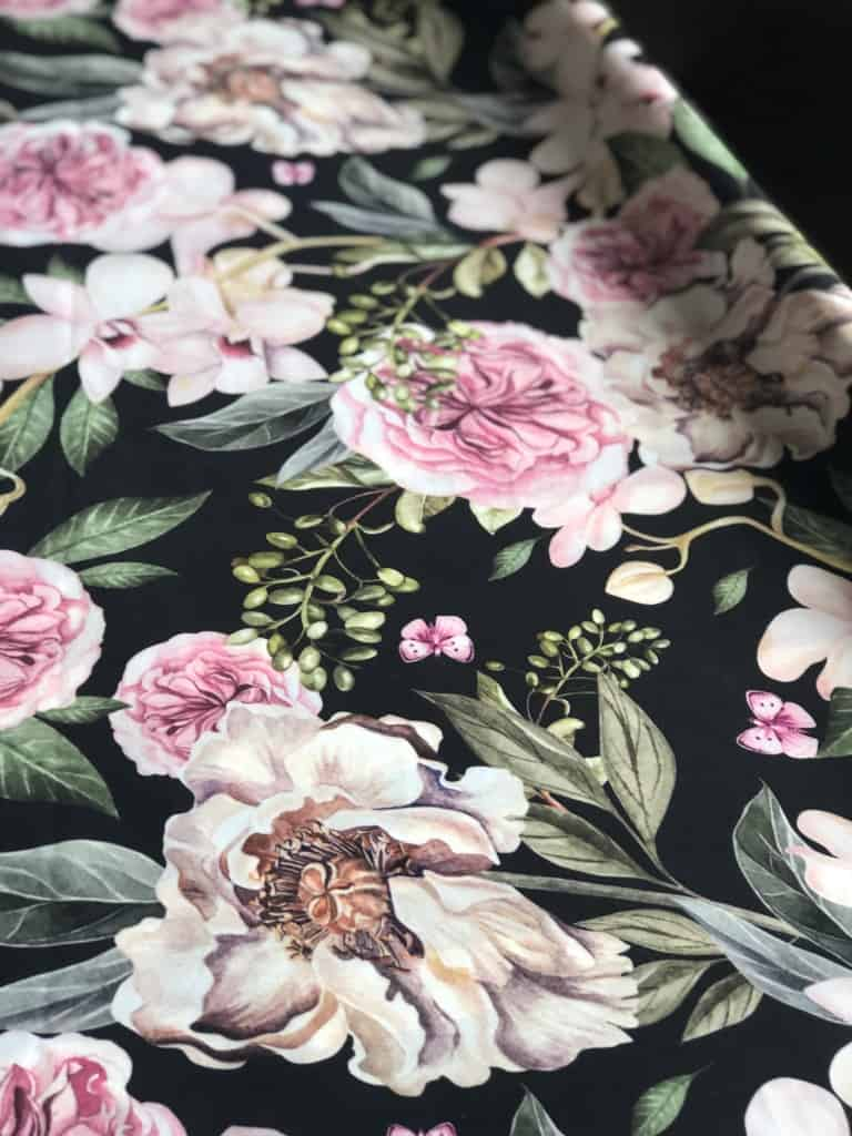 bold floral upholstery fabric