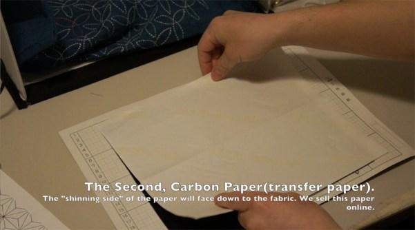 How to transfer Sashiko Patterns on to Fabric _1