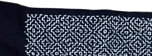 Sashiko Pattern with hitome Sample