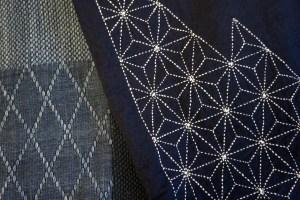 Stitched Sashiko and Woven Sashiko