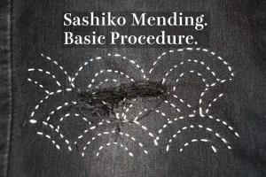 Basic Sashiko Denim Mending Cover