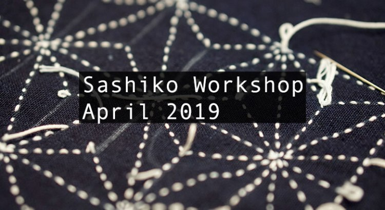 Sashiko Workshop April 2019 Cover