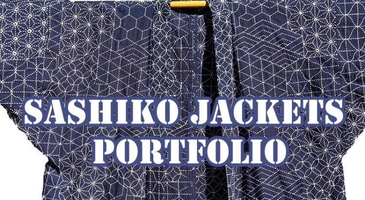 Sashiko Jackets Portfolio Cover