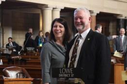 Kearney Sen. John Lowe and wife Kim.